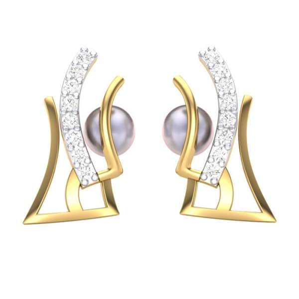 Trendy Lines Diamond Earring