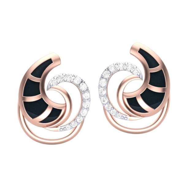 Trendy Curves Diamond Earring