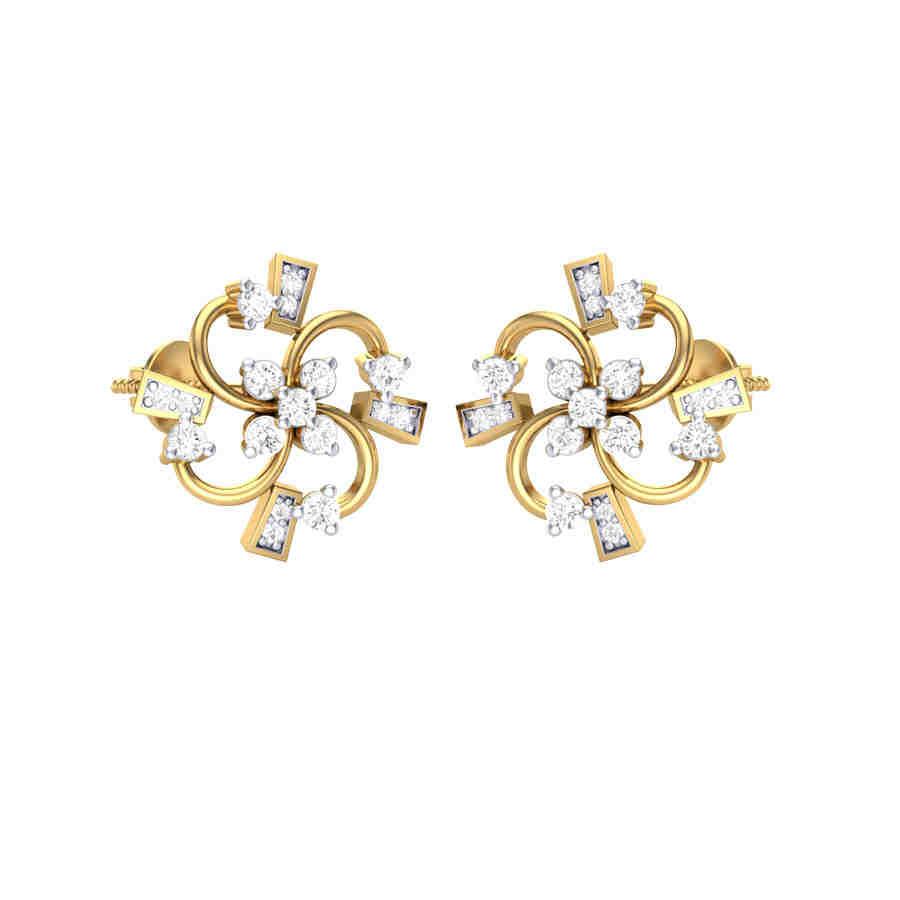 All Floral Diamond Earring