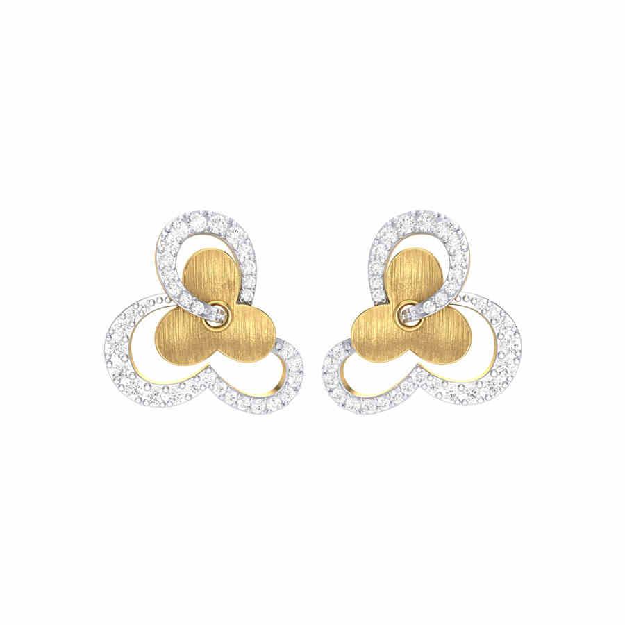 Dual Tone Flower Earring