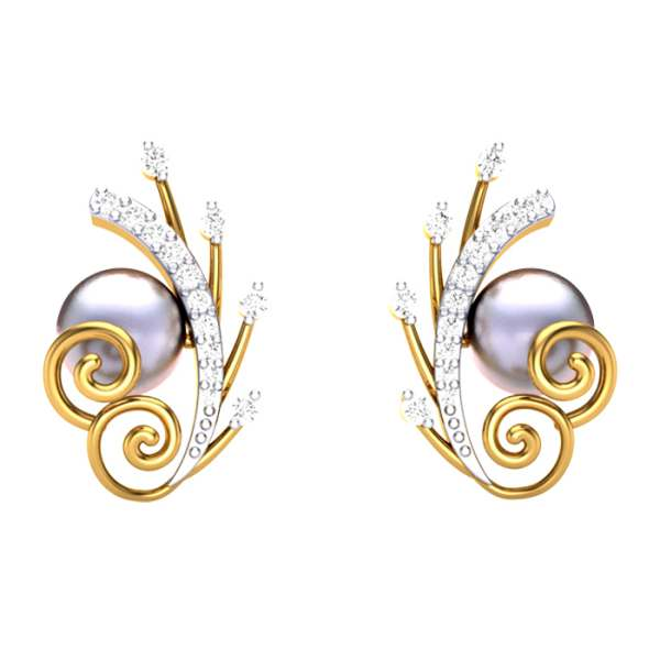 Pearl Studded Lines Earring