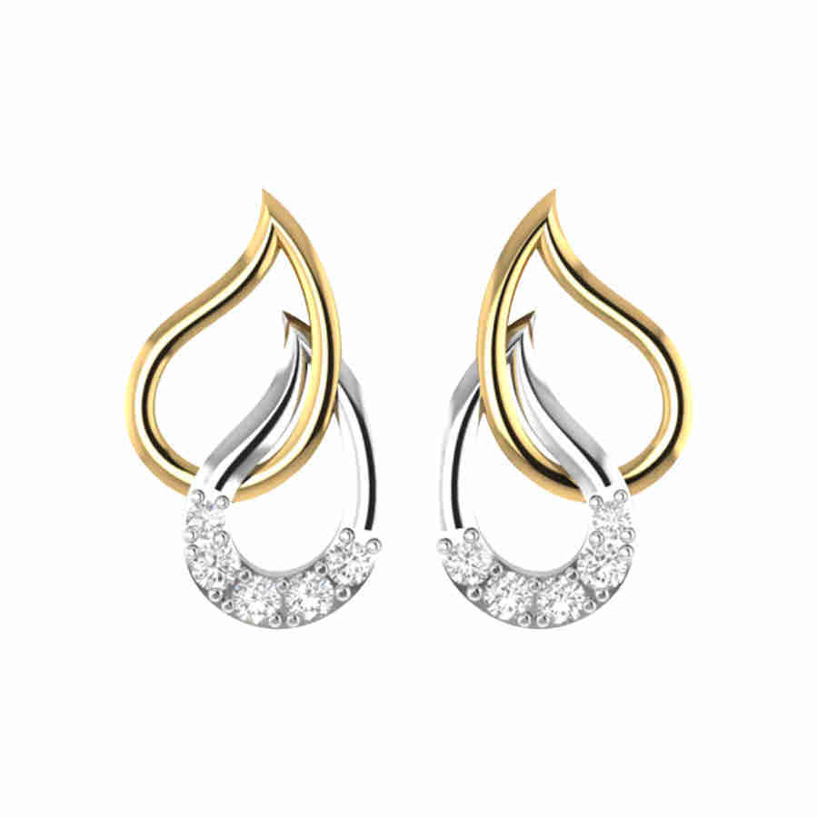 Duet Studded Drops Earring