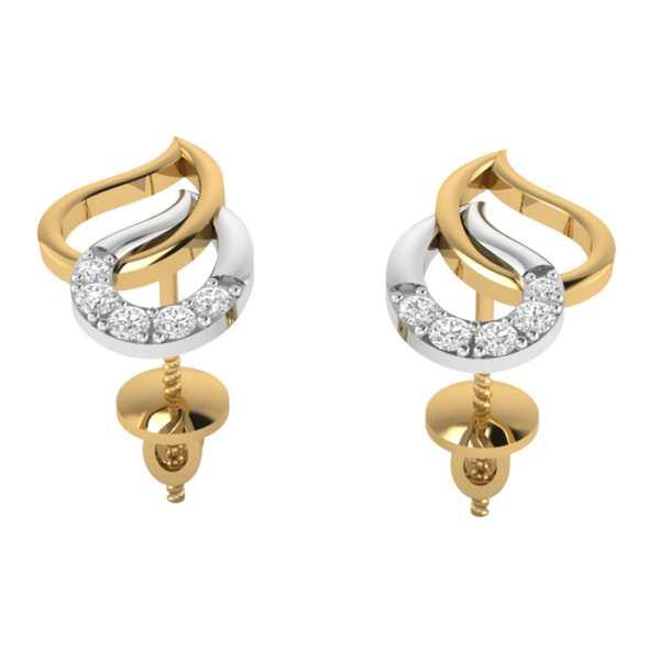 Duet Studded Drops Earring
