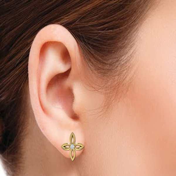 Twinkler With One Diamond Earr