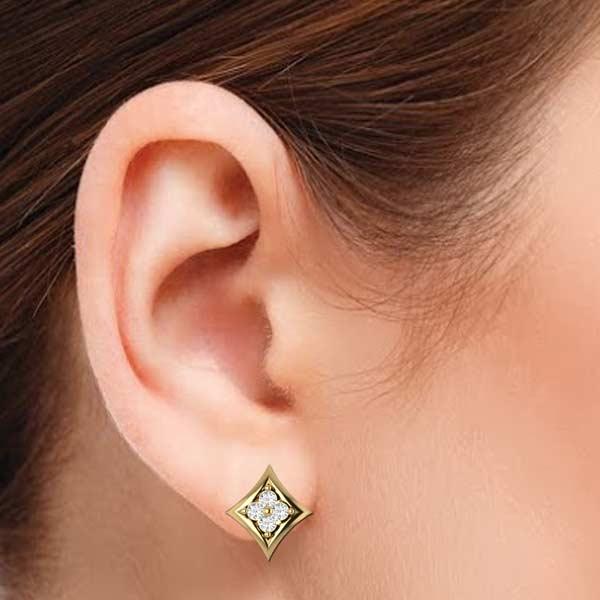 Stylisg Rhombus Shape Earring