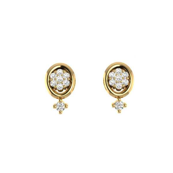 Oval Shape Eight Diamond Earri