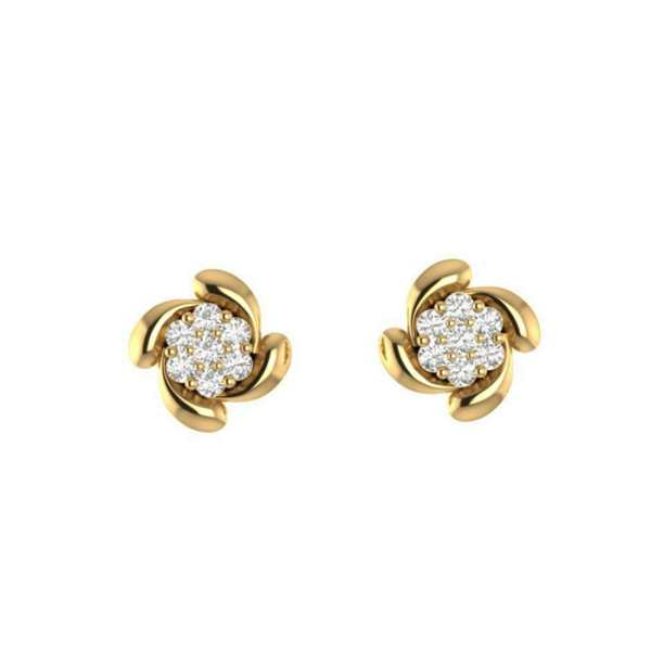 Flower Shape Diamond Earring