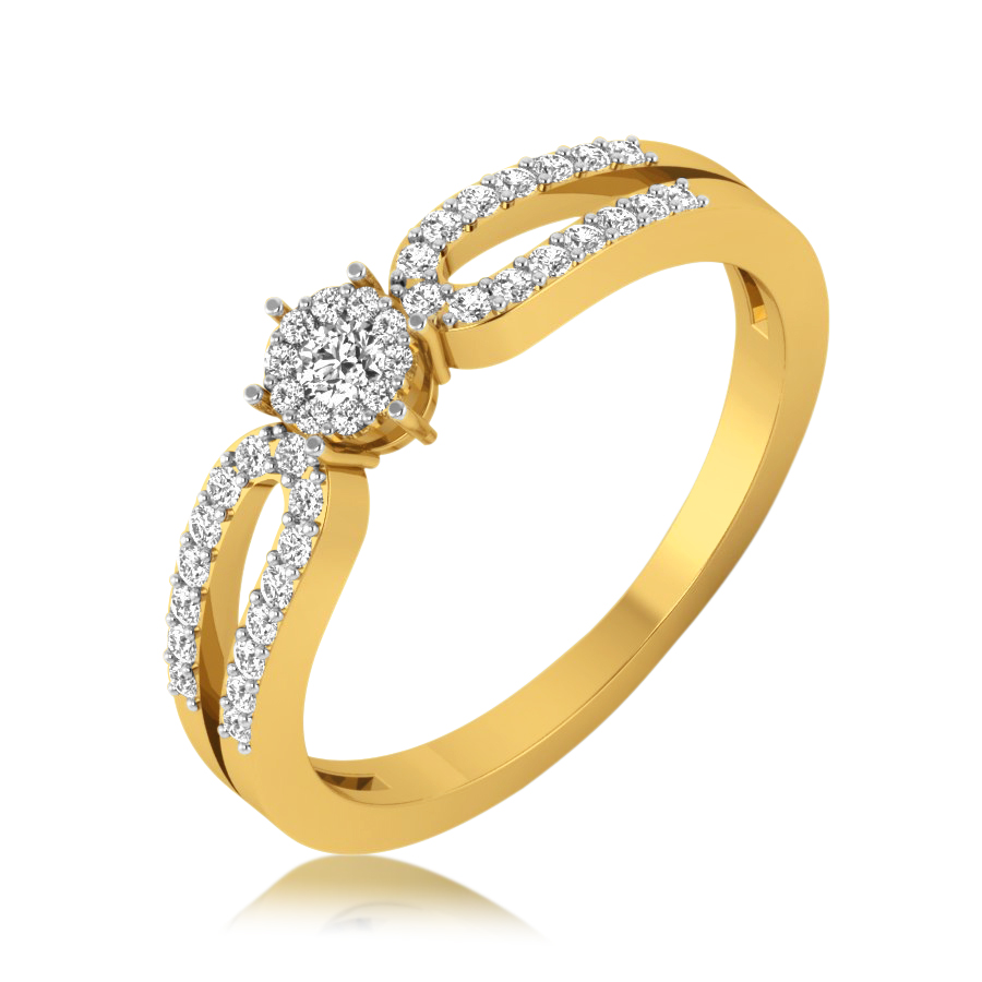 Dazzling Two Layered Ring