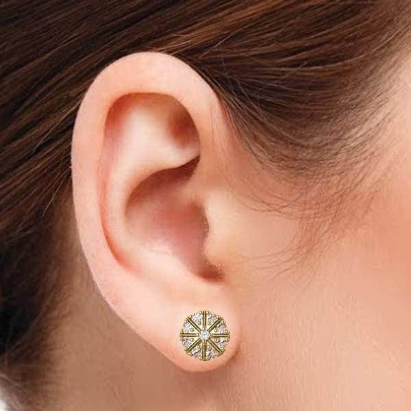 Round Star Diamond Earring