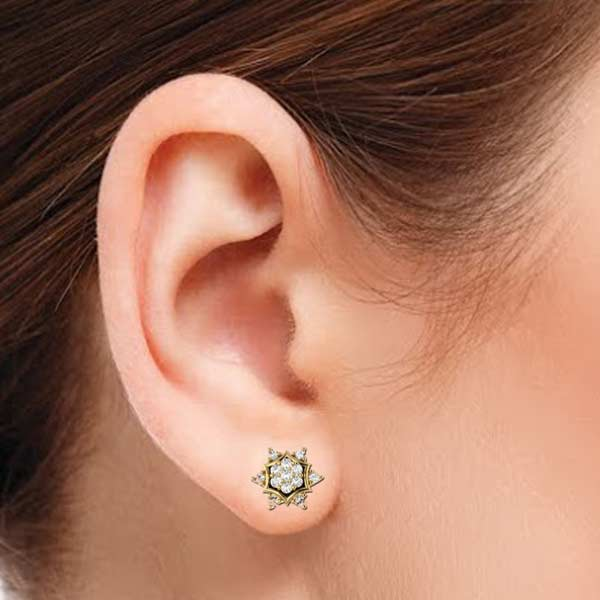 Sparkling Star Diamond Earring