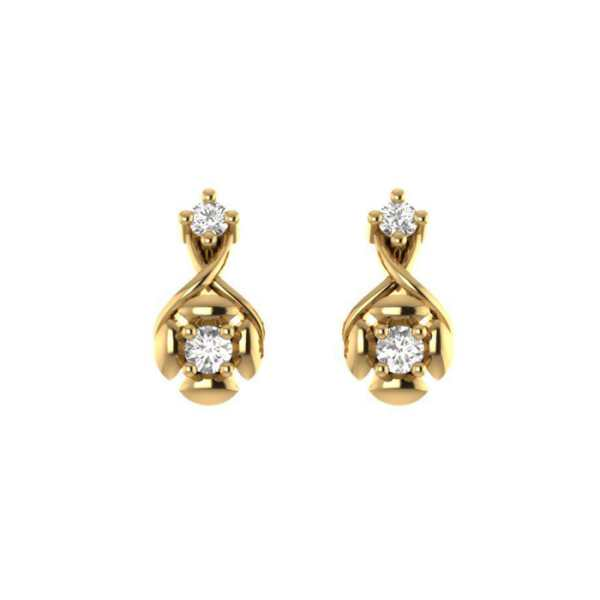 Two Diamond Simple Earring