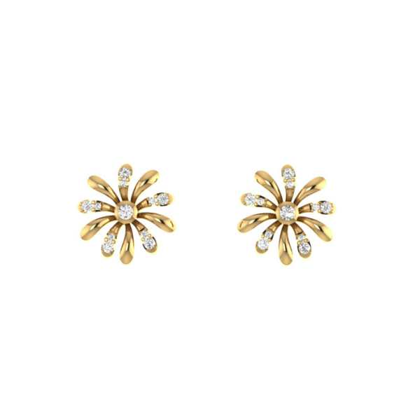 Twinkling Flower Diamond Earri