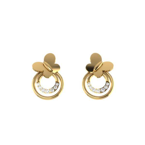 Simple Flower Shape Earring