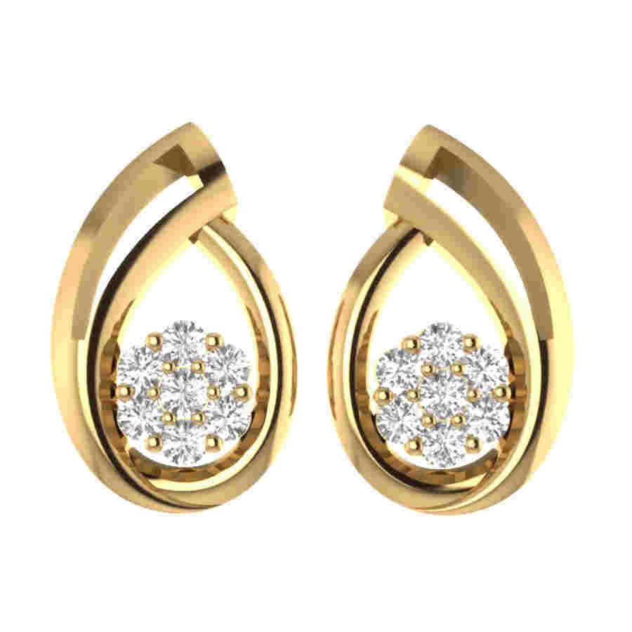Shining Floral Diamond Earring