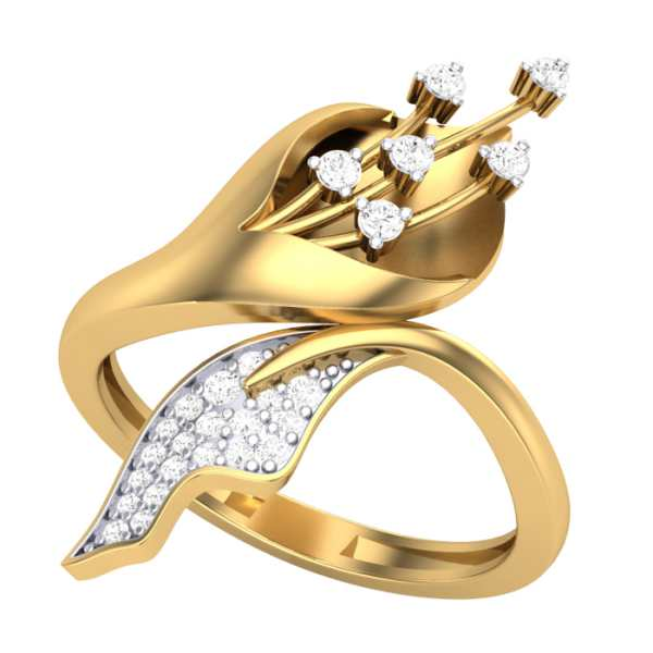 Embraced Charm Diamond Ring
