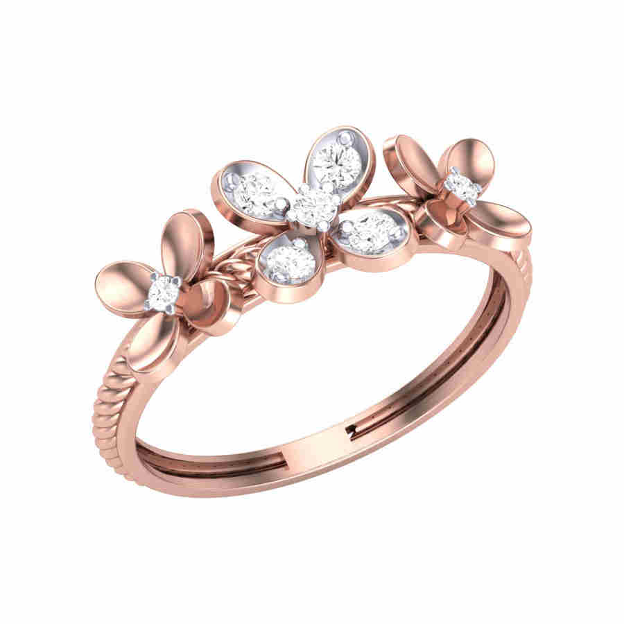 Tri Floria Diamond Ring