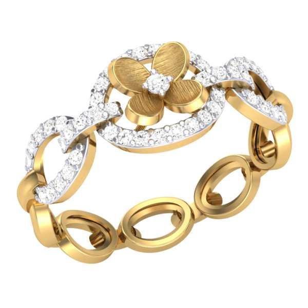 Classic Garland Diamond Ring