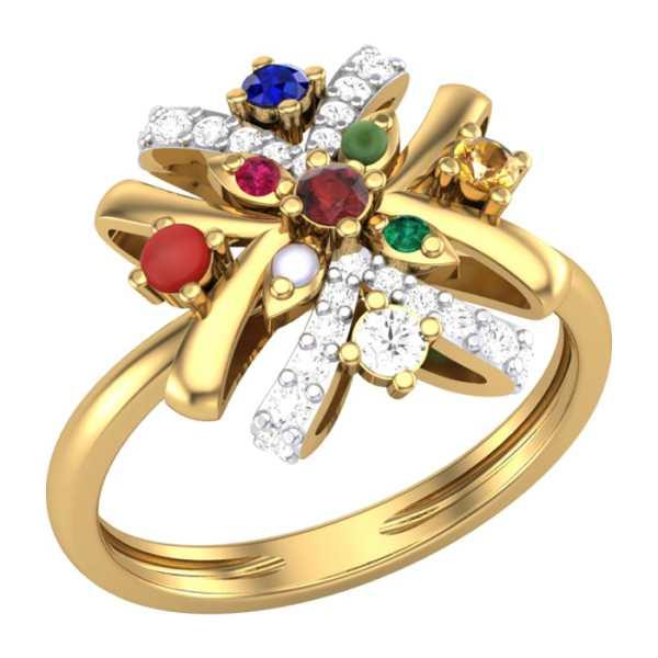 Knotted 9 Navratna Ring