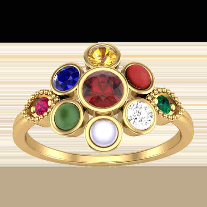 Sparkling 9 Navratna Ring