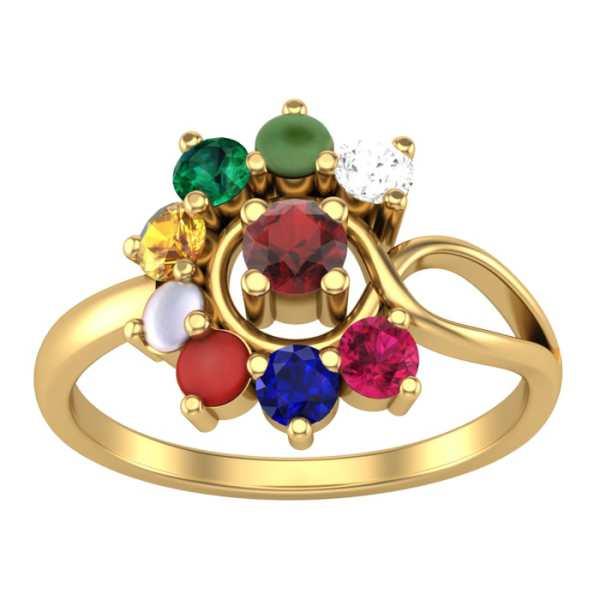 Divine 9 Navratna Diamond Ring