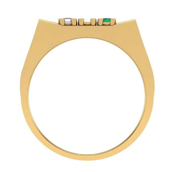 Squared 9 Navratna Ring