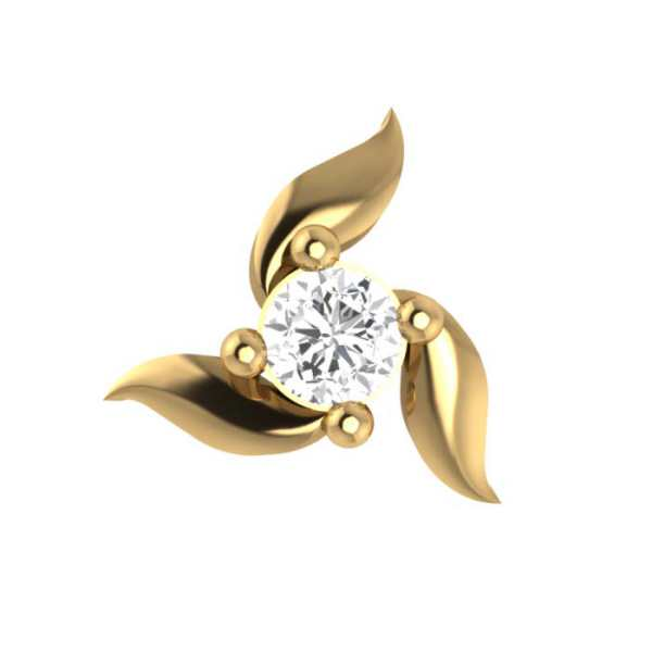 Simple Floral Diamond Nosepin