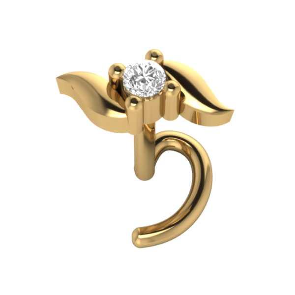 Studded Bow Diamond Nosepin