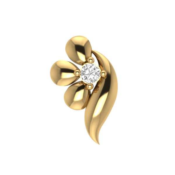 Petal N Leaf Diamond Nosepin