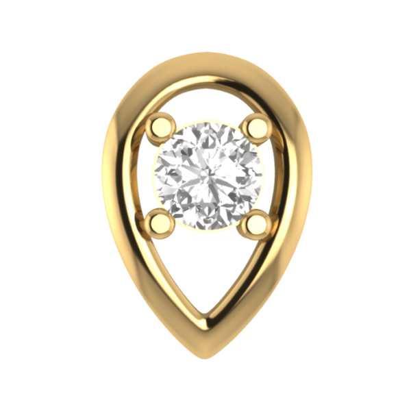 Peerless One Diamond Nosepin
