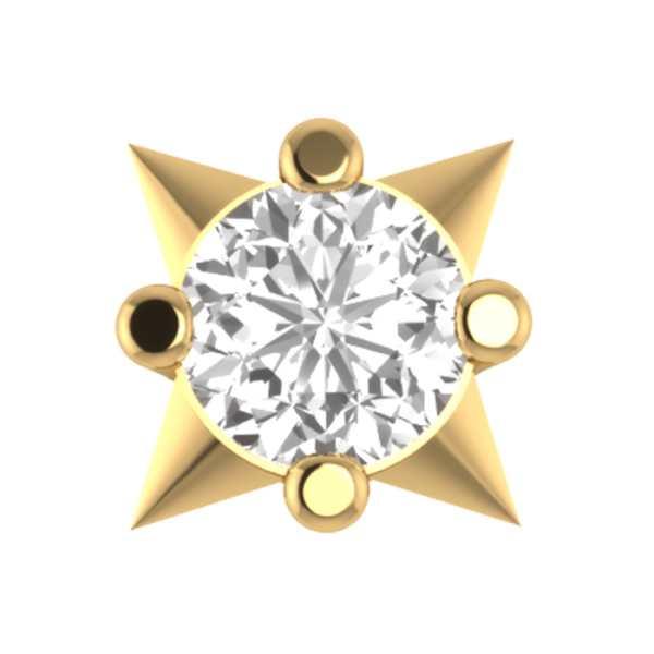 Single Star Diamond Nosepin