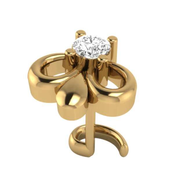 3 Bells Diamond Nosepin