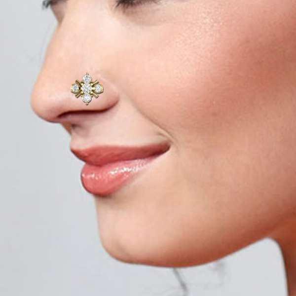 5 Stone Diamond Nosepin