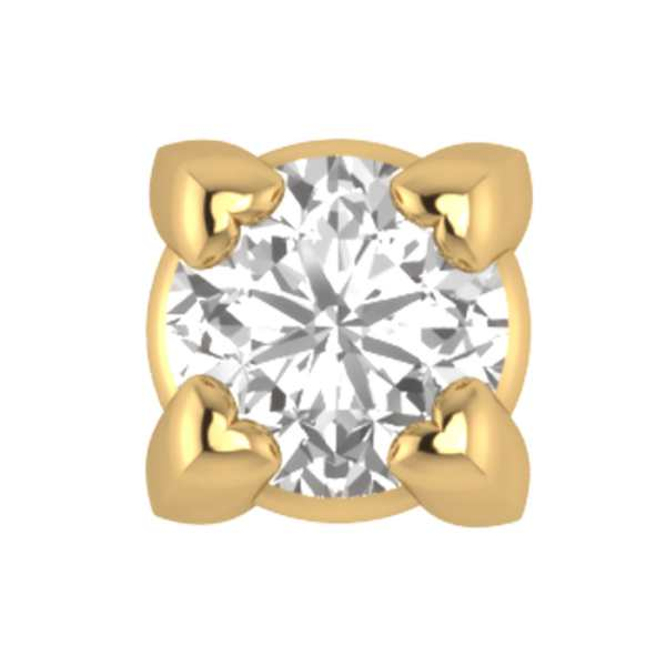 Crown Head Diamond Nosepin