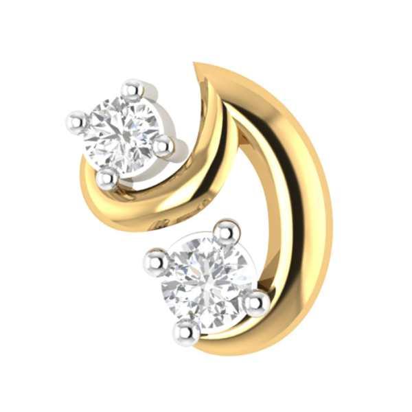 Trendy Dual Diamond Nosepin