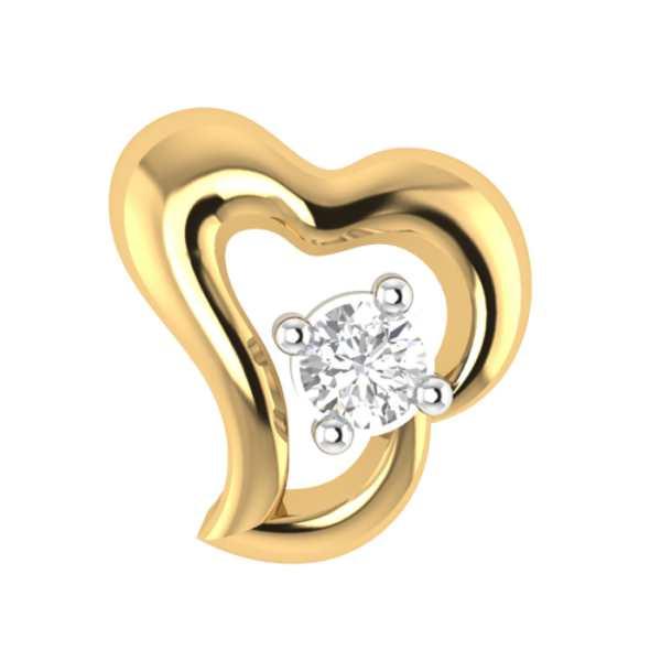 Heart Shape Diamond Nose Pin