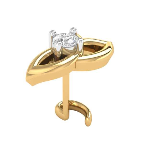 Glimmering Bow Diamond Nosepin