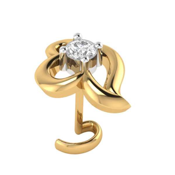 Single Stone Diamond Nosepin Kasturidiamond Com