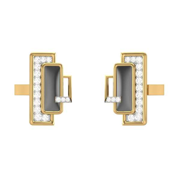 Shining Beam Diamond Cufflink