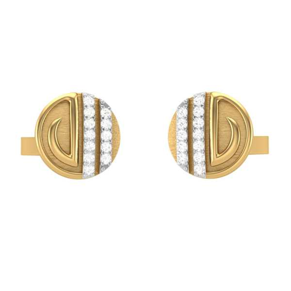 Lines In Circle Cufflink