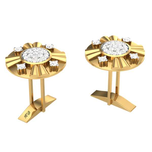 4 in a Circle Diamond Cufflink