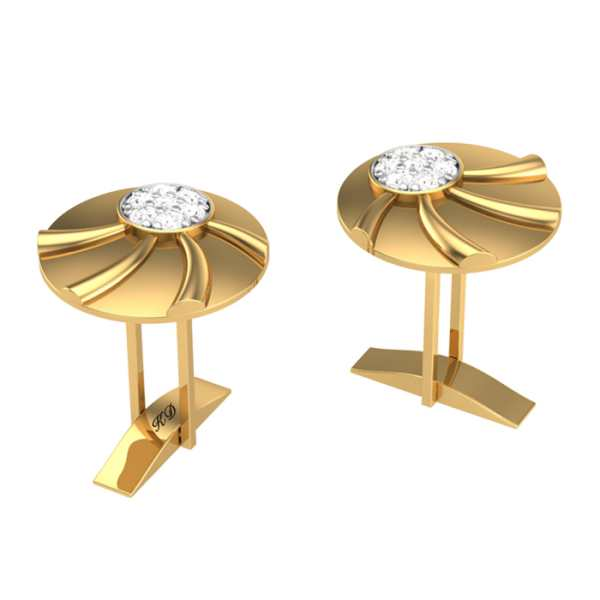 Glowing Sun Diamond Cufflink