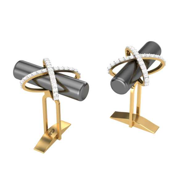 Entwined Rod Diamond Cufflink