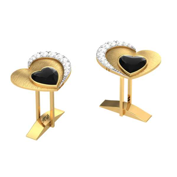 Heart Within Diamond Cufflink