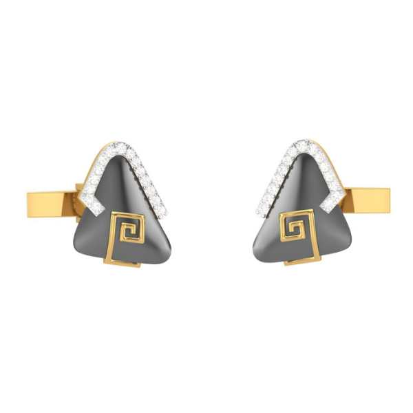 Blacky Triangle Cufflink