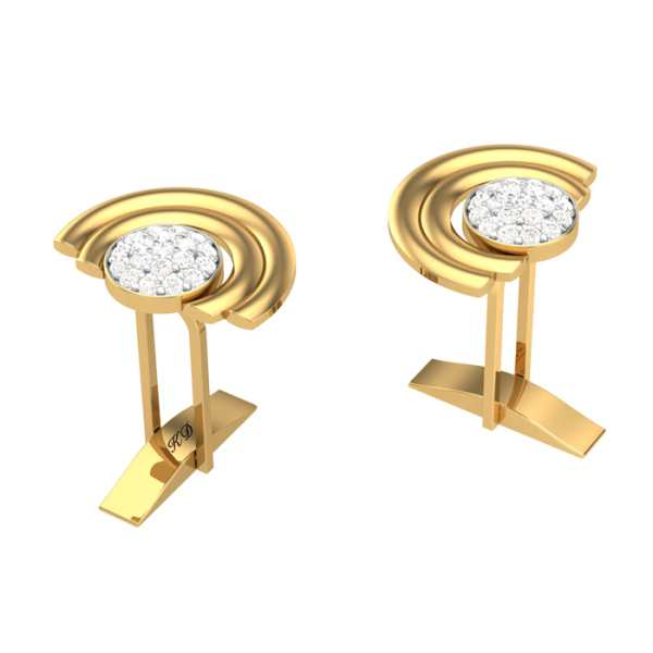 Open Circle Diamond Cufflink