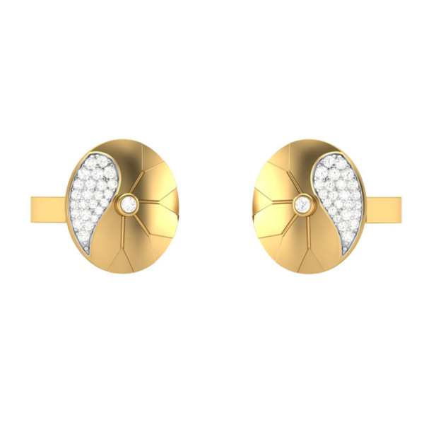 Oval shape Diamond Cufflinks