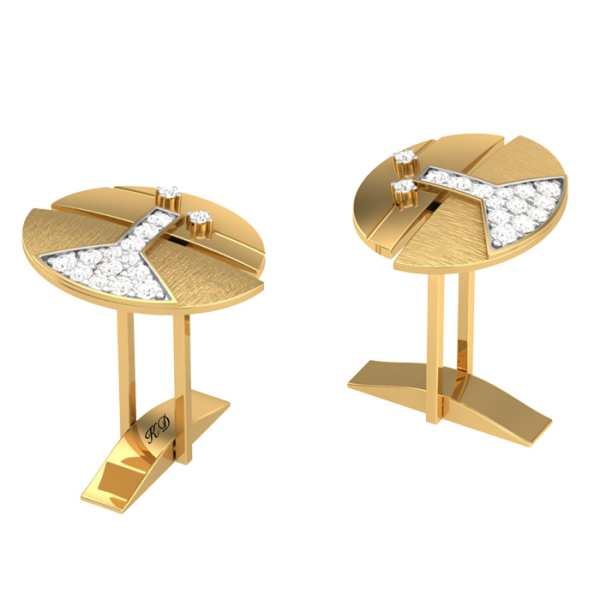Bell Shaped Diamond Cufflink