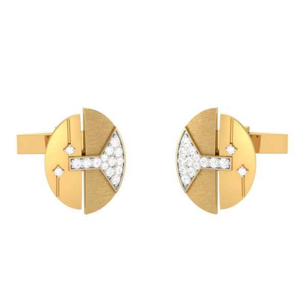 Bell Shaped Diamond Cufflink