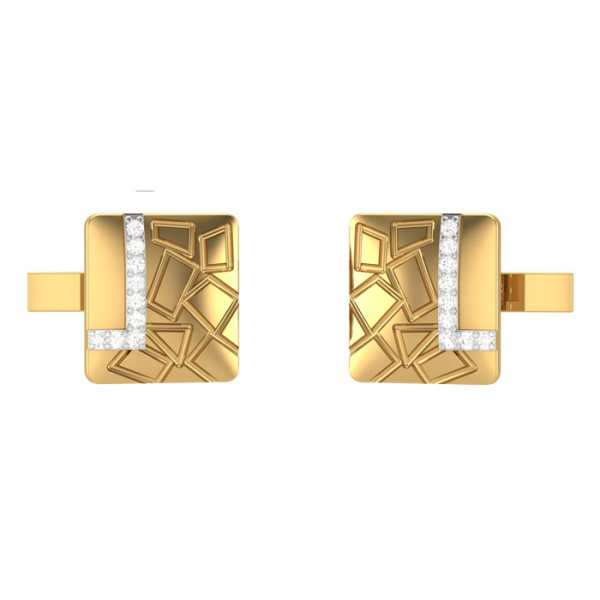 Exotic Square Diamond Cufflink