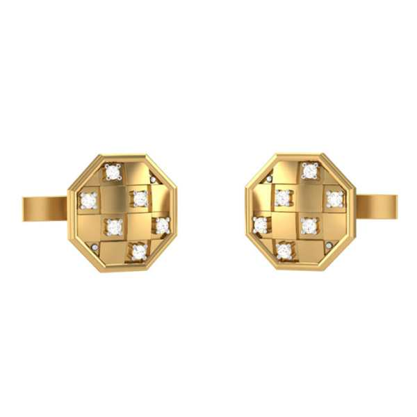 Octagon Shape Diamond Cufflink